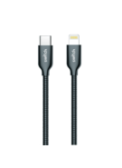 SWITCH PREMIUM METALLIC TYPE-C TO LIGHTNING CABLE 1.2M,  gun metal