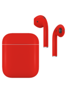 APPLE AIRPODS SECOND GEN WIRED PAINTED SPECIAL EDITION,  ferrari red, matte