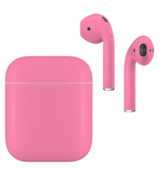 APPLE AIRPODS SECOND GEN WIRED PAINTED SPECIAL EDITION,  romance pink, matte