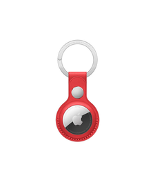 APPLE AIRTAG LEATHER KEY RING,  product red