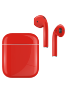 APPLE AIRPODS SECOND GEN WIRED PAINTED SPECIAL EDITION,  ferrari red, gloss