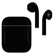 APPLE AIRPODS SECOND GEN WIRED PAINTED SPECIAL EDITION,  jet black, matte