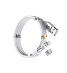 SWITCH 3 IN 1 MAGNETIC CHARGE AND SYNC CABLE SELF STORING,  white