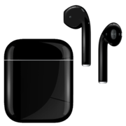 APPLE AIRPODS SECOND GEN WIRED PAINTED SPECIAL EDITION,  jet black, gloss