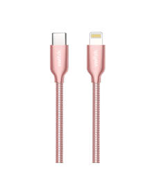 SWITCH PREMIUM METALLIC TYPE-C TO LIGHTNING CABLE 1.2M, ROSE GOLD,  rose gold