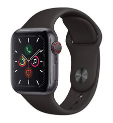 APPLE WATCH SERIES 5 GPS CELLULAR 40MM SPACE BLACK STAINLESS STEEL CASE WITH BLACK SPORT BAND
