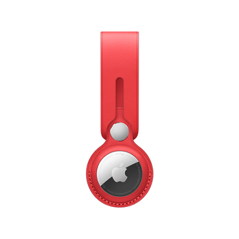 APPLE AIRTAG LEATHER LOOP,  product red