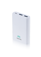 MYCANDY POWER BANK 10K MAH QC 3 PB20 FG,  white
