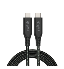 SWITCH ULTRA RUGGED TYPE C TO TYPE C CHARGE & SYNC 1.2M CABLE BLACK