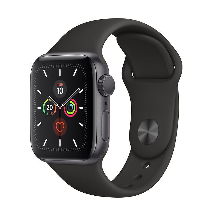 - APPLE WATCH SERIES 5 – GPS 44MM SPACE GREY ALUMINIUM CASE WITH BLACK SPORT BAND - S/M & M/L