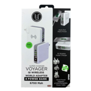 UUNIQUE WORLD TRAVEL ADAPTER AND POWERBANK VOYAGER