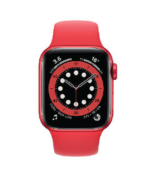 APPLE WATCH SERIES 6,  red aluminium red sport band, 40mm, gps