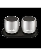SWITCH WS1 2 X 3W TRUE WIRELESS SPEAKERS SILVER,  silver