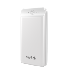 سويتش شاحن متنقل 20,000 مللي آمبير GO MAX مدخل USB و نوع-C بتوصيل طاقة 18 واط,  أبيض