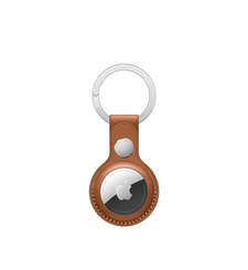 APPLE AIRTAG LEATHER KEY RING,  saddle brown
