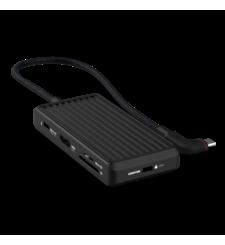 UNISYNK 8 PORT USB C HUB V2,  black