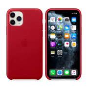 APPLE IPHONE 11 PRO LEATHER CASE,  red