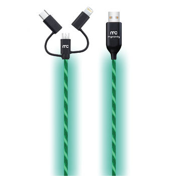MYCANDY NEON FLO 3 IN 1 CHARGE AND SYNC CABLE 1M,  red