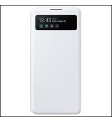 سامسونج جالكسي S10 لايت S غطاء View Wallet,  أبيض