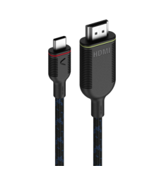 UNISYNK USB C TO HDMI 4K,  black, 1.5m cable
