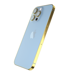 GIVORI APPLE IPHONE 13 PRO MAX GOLD PLATED FRAME,  sierra blue, 1tb