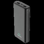 MYCANDY 20000MAH DUAL USB 2.1 A FAST CHARGE POWER BANK,  black