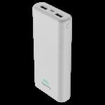 MYCANDY 20000MAH DUAL USB 2.1 A FAST CHARGE POWER BANK,  white