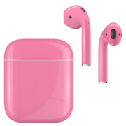 APPLE AIRPODS SECOND GEN WIRED PAINTED SPECIAL EDITION,  romance pink, gloss