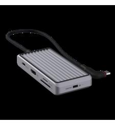 UNISYNK 8 PORT USB C HUB V2,  grey