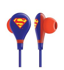 EARPHONE ULTRA BASS WITH MIC,  superman blue