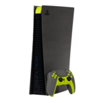 SWITCH PLAYSTATION 5 CONSOLE (DISC VERSION),  neon yellow stone finish design