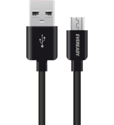 EVEREADY MICRO USB CABLE 1M,  black