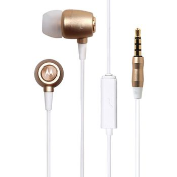 MOTOROLA IN EAR STEREO EARBUDS METAL,  gold