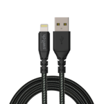 SWITCH ULTRA RUGGED USB A TO MFI LIGHTNING CHARGE AND SYNC CABLE, 1.2m,  black