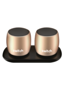 SWITCH WS1 2 X 3W TRUE WIRELESS SPEAKERS GOLD,  gold