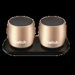SWITCH WS1 2 X 3W TRUE WIRELESS SPEAKERS GOLD,  gold