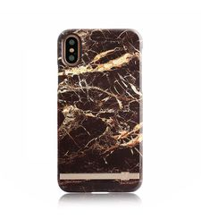 UUNIQUE IPHONE X BACK CASE BROWN GOLD MARBLE,  brown