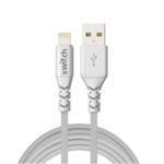 SWITCH ULTRA RUGGED USB A TO MFI LIGHTNING CHARGE AND SYNC CABLE, 1.2m,  white