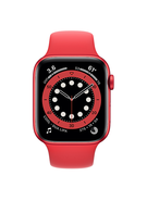 APPLE WATCH SERIES 6 GPS,  red aluminium red sport band, 44mm