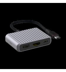 UNISYNK 3 PORT USB C HUB V2,  grey
