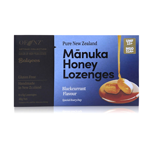 Manuka Honey Lozenges - Blackcurrant Flavour, 8 x 6g lozenges 48 g net wt