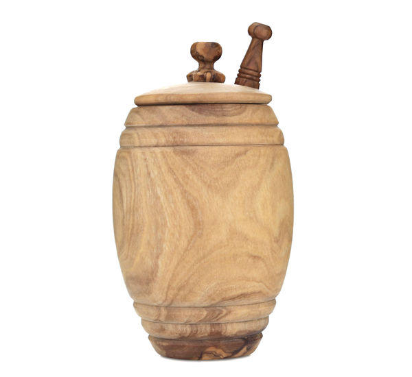 Olive Wood Honey Pot and Drizzler