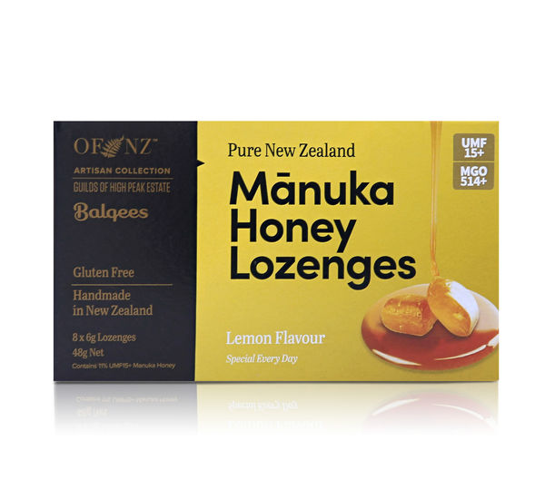 Manuka Honey Lozenges - Lemon Flavour, 8 x 6g lozenges 48 g net wt