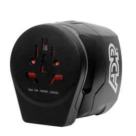 Skross World Adaptor (250v-16A-4000W) with Surge Protector and Auto Cut as Well As Auto Fuse with 4 Type of Compatible Socket and a USB Charging Point with 2 Amp Support Adaptor