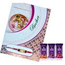 Dairy Milk Chocolate and Greeting card with Rakhi
