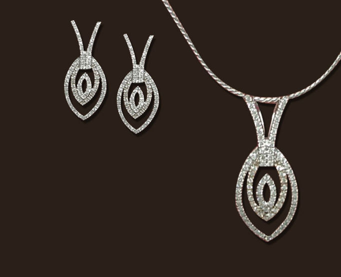 Office wear diamond jewellery set