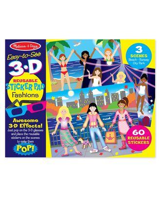 Melissa And Doug Reusable Sticker Pad - Fashions 3D, Age 3+