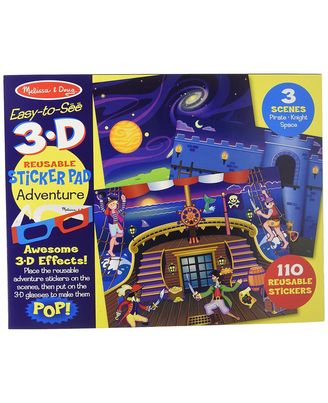 Melissa & Doug Easy to See 3D Adventure Puzzle, Multi Color