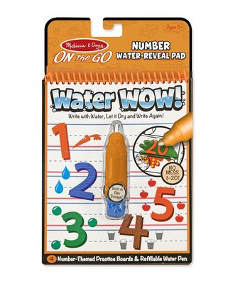 Melissa And Doug Water Wow! Numbers Water Reveal Pad, Age 3+