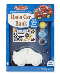 Melissa And Doug Diy Race Car Bank - Created By Me, Age 8+